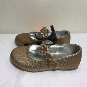 WONDER NATION GOLD SPARKLE MARY JANE SHOES TODDLER
